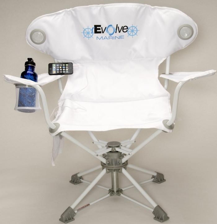 Amazon.com  rEvolve Chair with Speakers  Marine  - MAIN