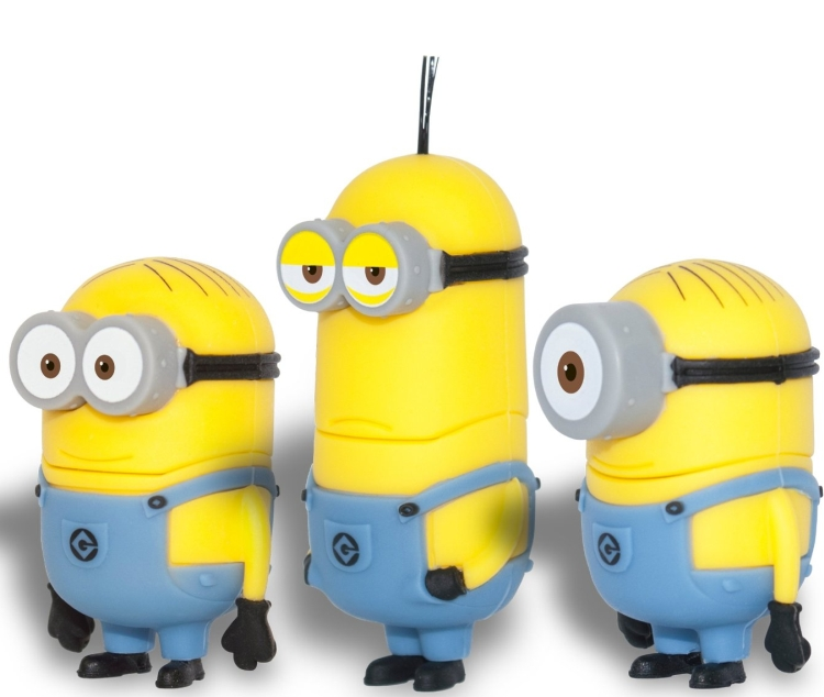Despicable Me 2 Minions 3 Pack 16GB USB Flash Drive