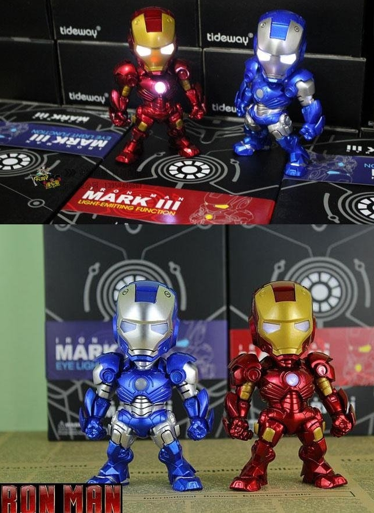 IRON MAN TOY Voice control operated switch LED light