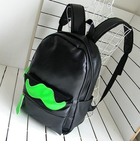 Handlebar Mustache Design Multifunction School Laptop Backpack