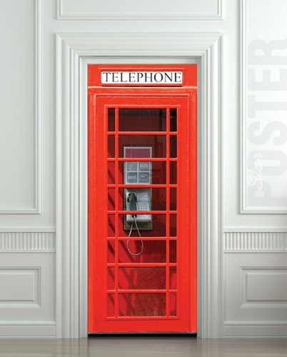 London Telephone Box self-adhesive sticker