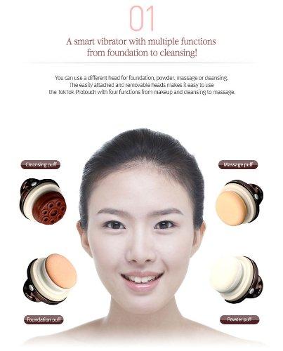 Touch Smart Vibrating Foundation Powder Cleansing Massage Puff Sponge