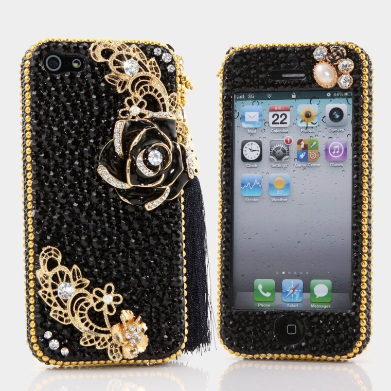 3D Swarovski Crystal Bling Case Cover for iphone 5 5S
