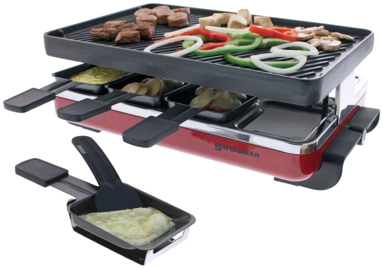 Contact Grills Swissmar KF 77071 Eiger 8 Person Raclette Party Reversible Cast