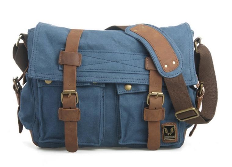 Classy Look Genuine Leather Travel Hiking Briefcase Crossbody Shoulder Bag