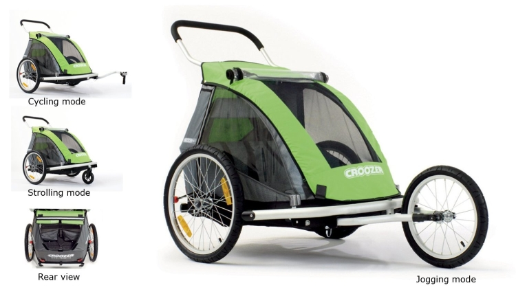 Croozer Designs Child Bicycle Trailer and Jogger
