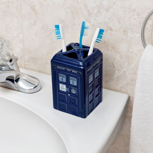 Doctor Who TARDIS Ceramic Toothbrush Holder