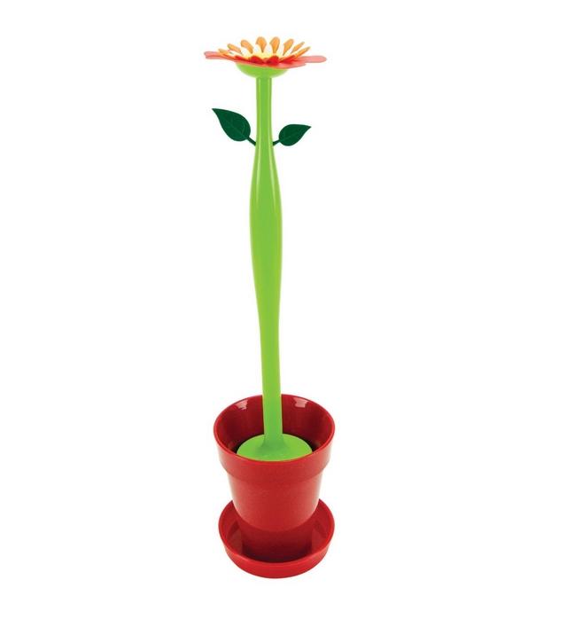 Flower Toilet Brush Set