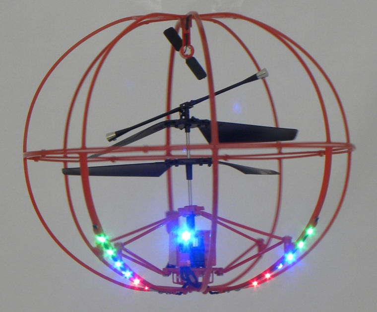Helicopter with LED Lights 3.5 Channel IR Flying Ball RC Mini Helicopter with Built-in Gyro
