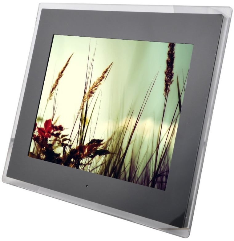 LCD HD Pixels Desktop Digital Photo Frame Up To 32GB Built-in Speaker