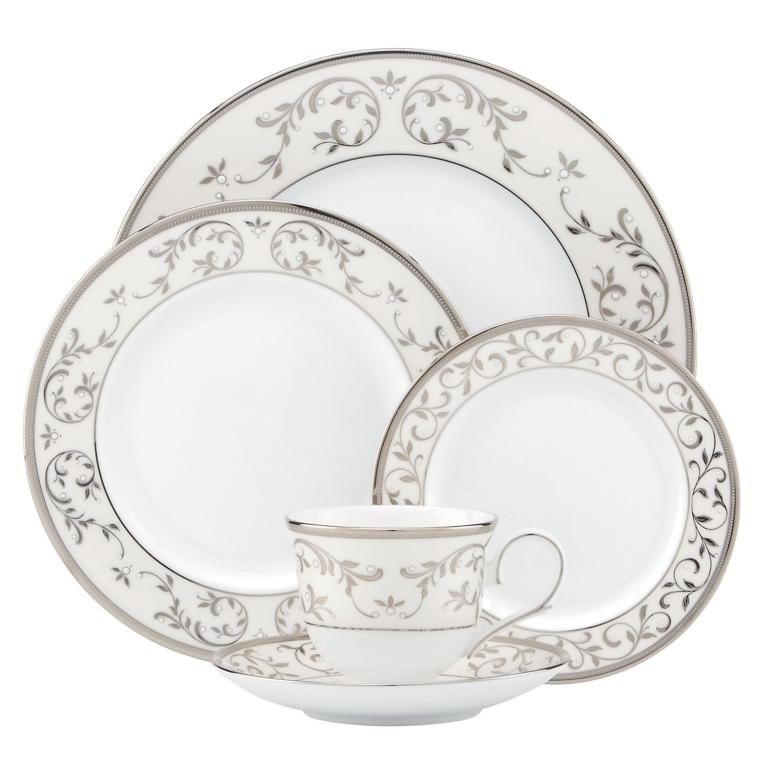 Lenox  Opal Innocence Silver 5 Piece Place Setting