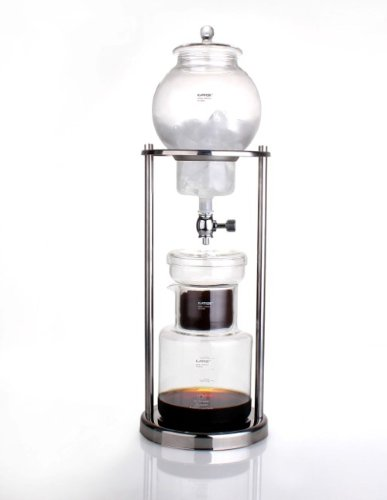 Luxury Iced Coffee Dripper Cold Brewer Maker Glass Stainless Steel Stand