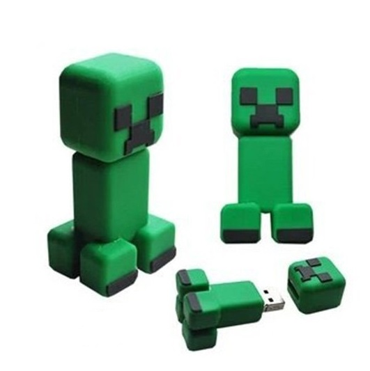 Minecraft Creeper Figure USB Flash Drive