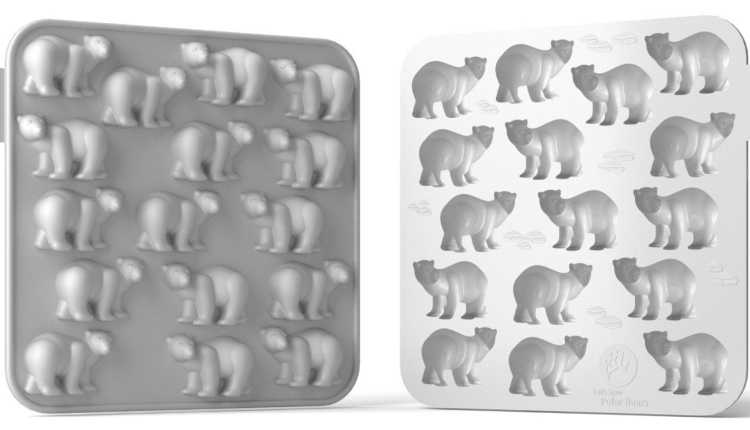 Polar Bear 16-Cavity Flexible Silicone Chocolate, Jelly and Candy Mold