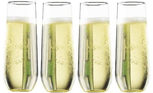 Pomponne Stemless Champagne Party Flutes