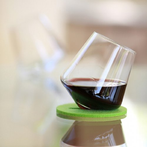 Sempli Set of 2 Cupa Wine Hand Blown Glasses