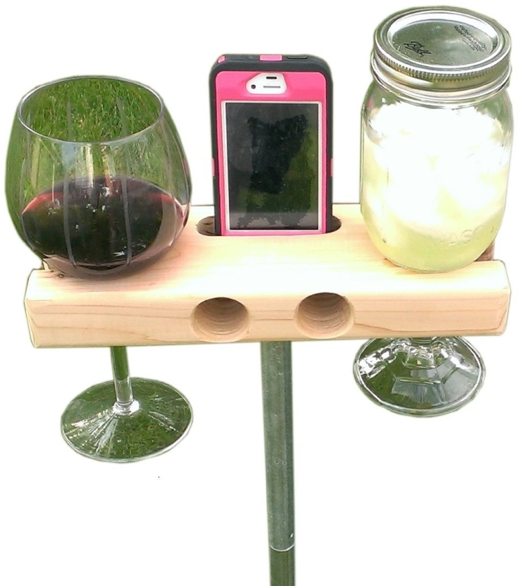 Smartphone DockSpeaker and Wine Glass holder
