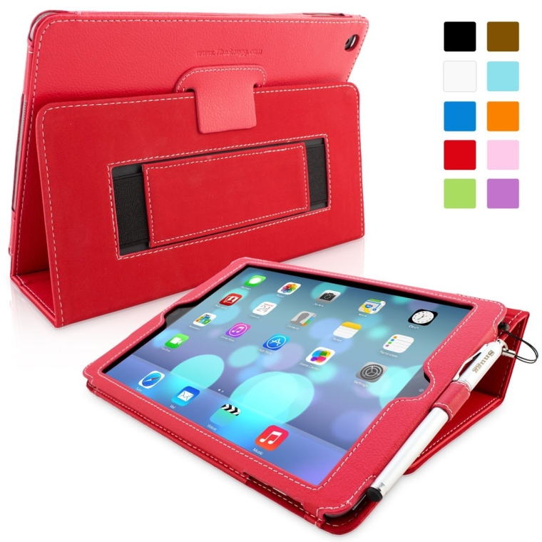 Snugg iPad Air (iPad 5) Case in Red Leather