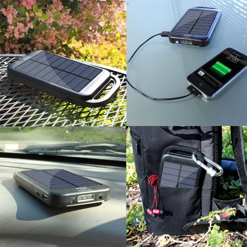Solar Charger Power Bank USB Rechargeable Backup Battery Pack