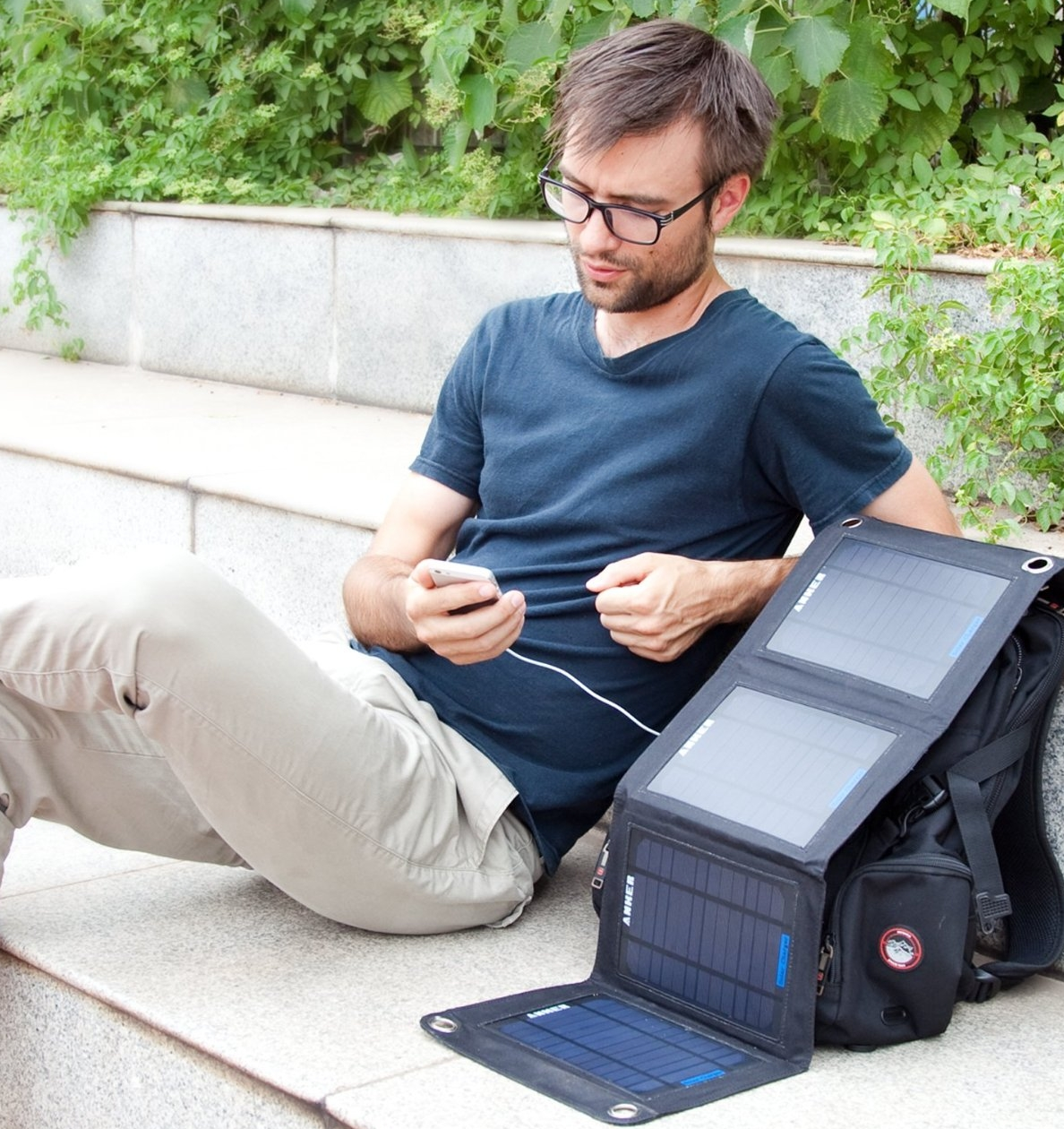 Solar Panel Foldable Dual-port Solar Charger