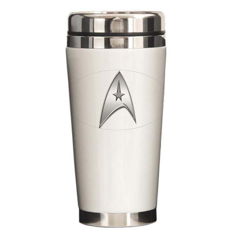 StarTrek Command Silver Signi Ceramic Travel Mug