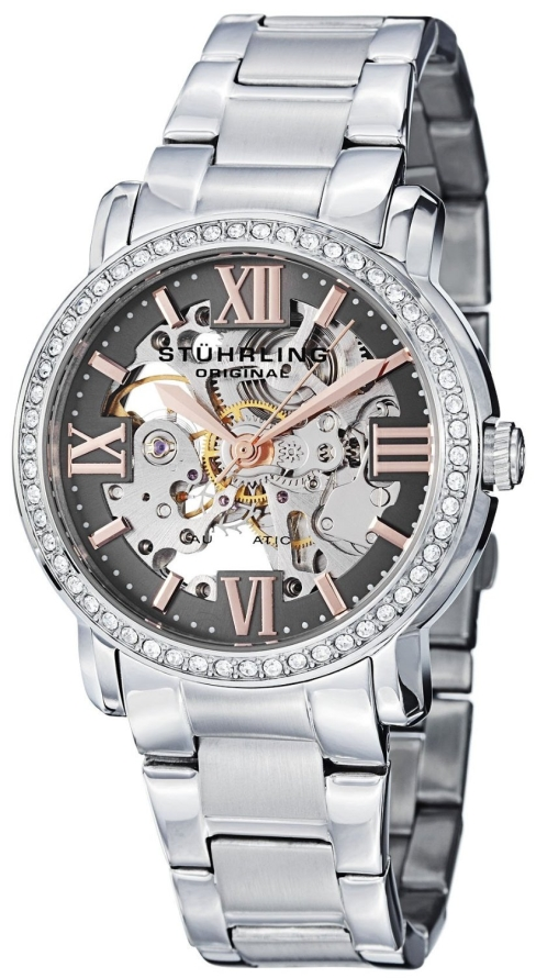 Stuhrling Original Womens Swarovski Grey Dial Watch