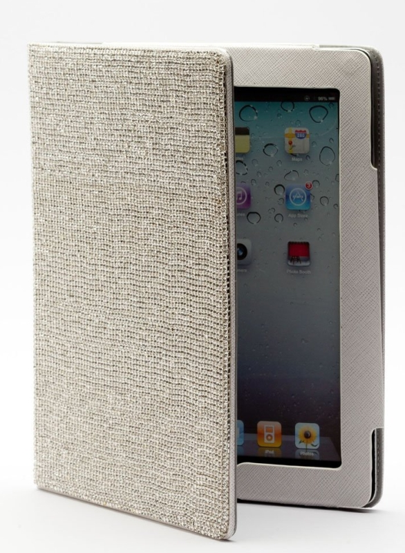 Swarovski Leather Case for Ipad 2 Ipad 3 New ipad White