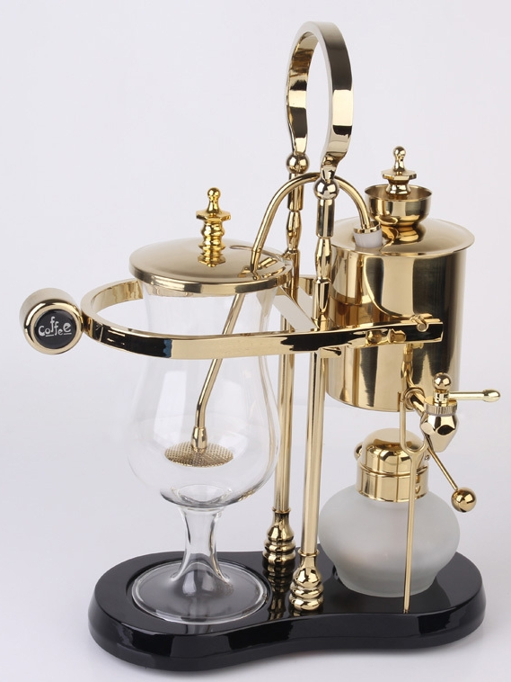 Belgium luxury royal family balance syphon coffee maker for Best luxury coffee maker