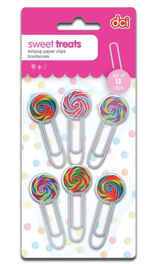 Treats Lollipop Paper Clips