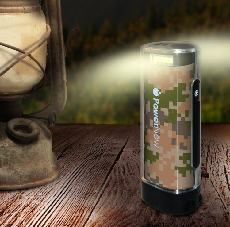 USB Mobile Battery Charger with Smart Jack and LED Lantern