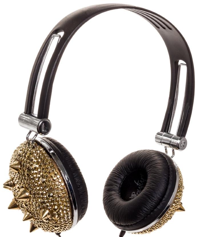 Womens DJ Jeadphones Spikes BLING Headphones