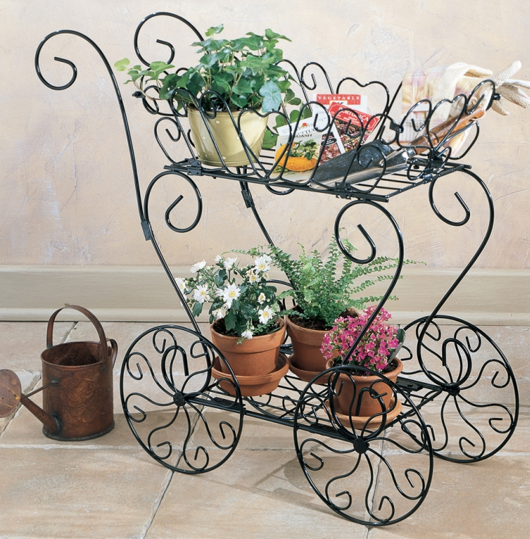 Scrolling heart decorative metal garden cart for Decorate with flowers amazon