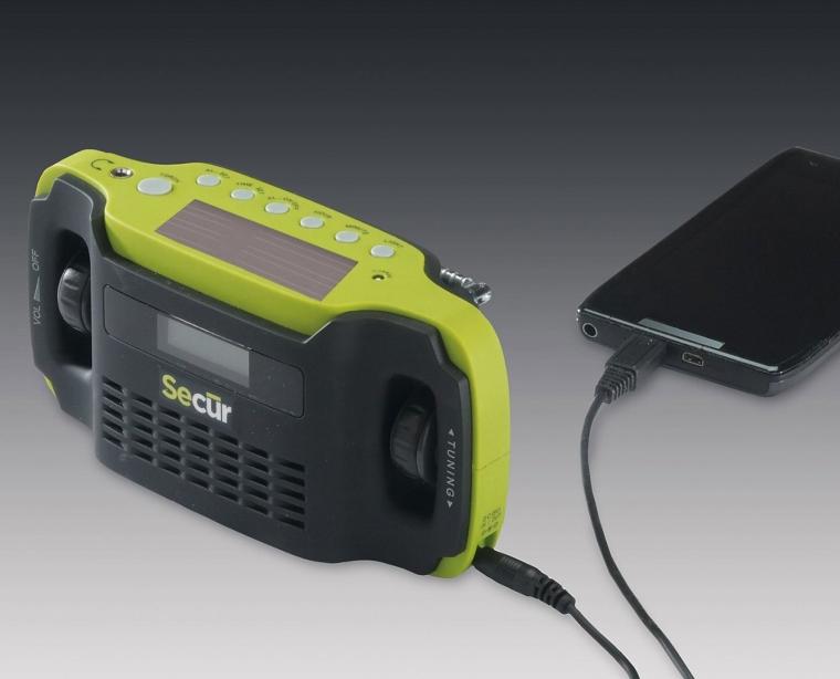 Digital Solar Dynamo Am Fm Radio Alarm Clock Smart Cell