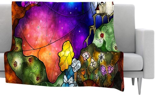 Fairy Tale Alice in Wonderland Fleece Throw Blanket