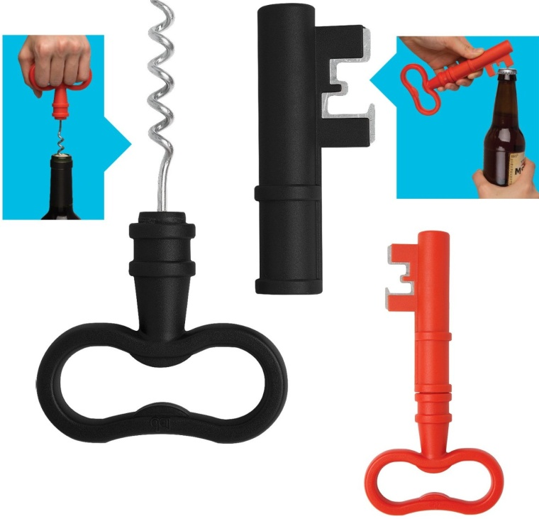 Bottle Opener, and Cork Screw All in One