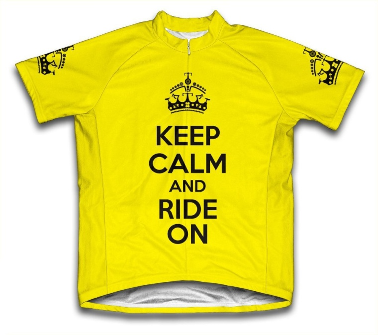 Keep Calm and Ride On Short Sleeve Cycling Jersey