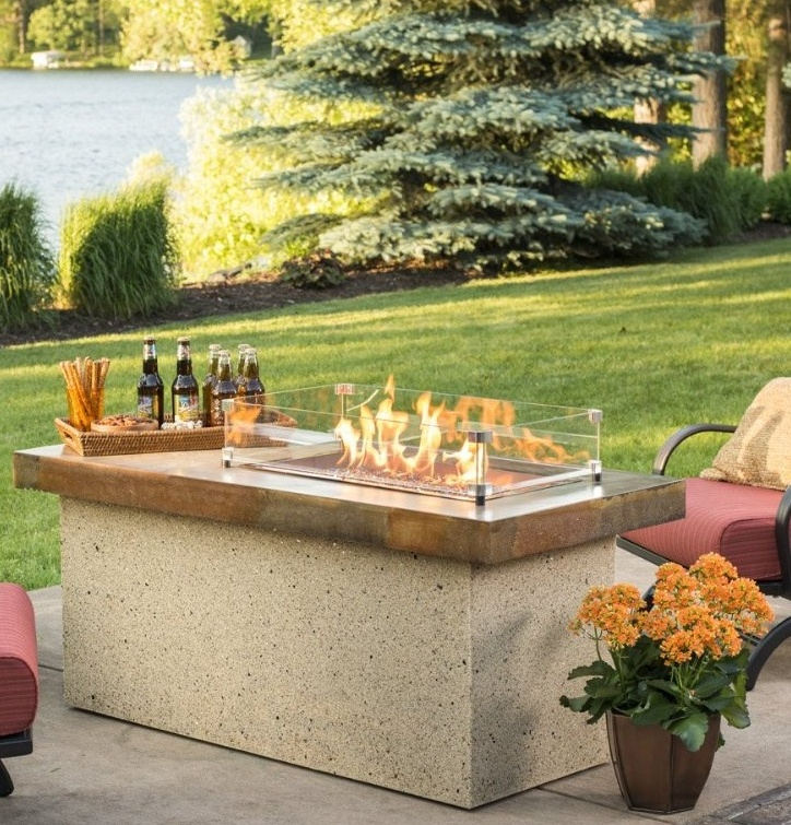 Outdoor Greatroom Artisan Chat Height Gas Fire Pit Table ...