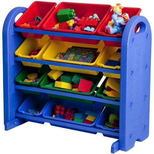 Plastic Kids Book Shelf Storage and Toy Organizer