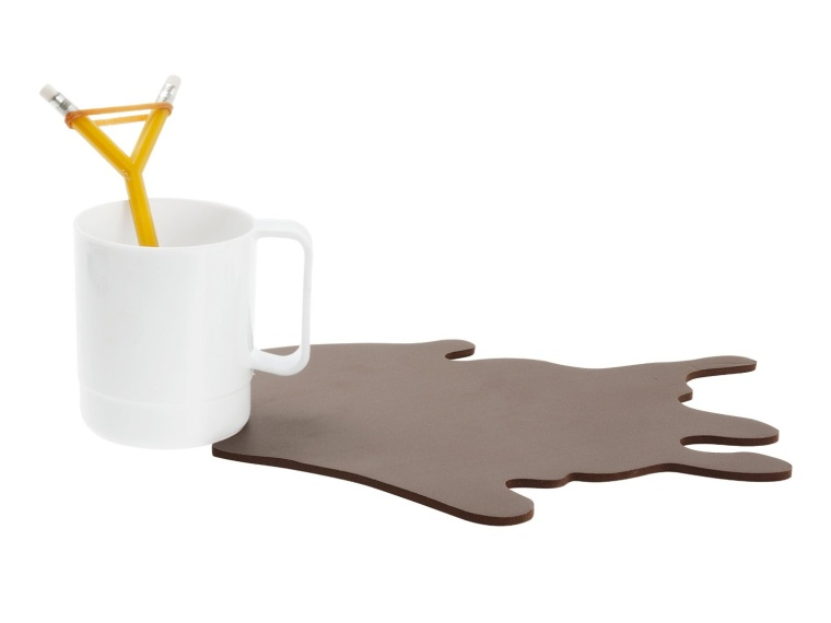 Spilled Coffee Mouse Mat with Mug