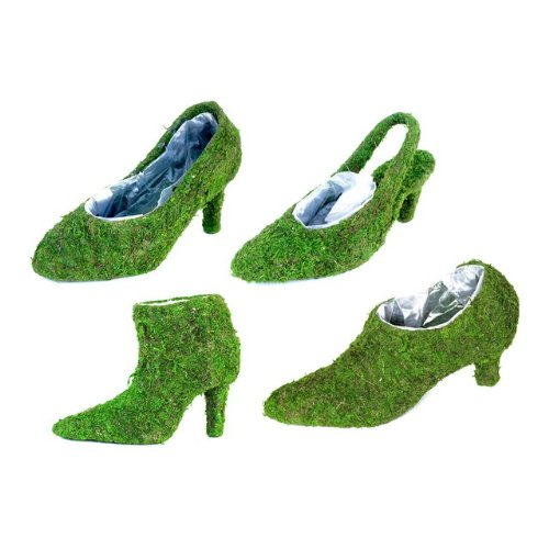 Super Moss Deco Ladies Shoes Moss Planters