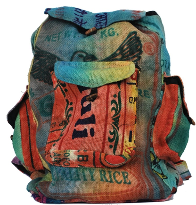 yogi multi recycled jute back pack-