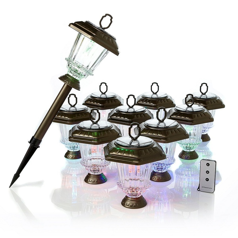 ColorChanging Solar Light 10-pack with Remote Control Bronze