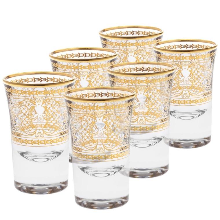 Fine Italian 14 Karat Gold or Silver Accented 1 Ounce Shotglass Set