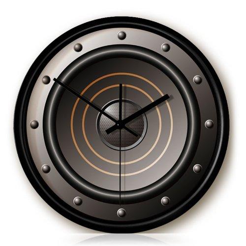 Individual Speaker Wall Clock Color Black