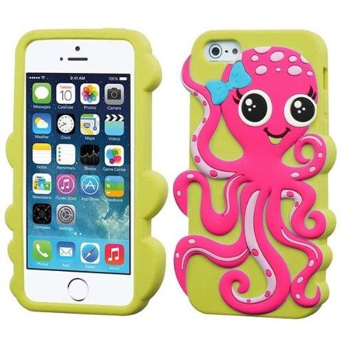 Pink Octopus Gel Skin Case Apple iPhone 5 5S 5C