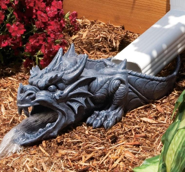 Ranier the Sculptural Dragon Rainspout