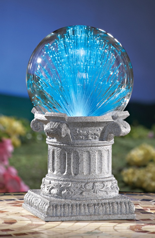 Solar Fiber Optic Gazing Ball Garden Decoration 7 Gadgets