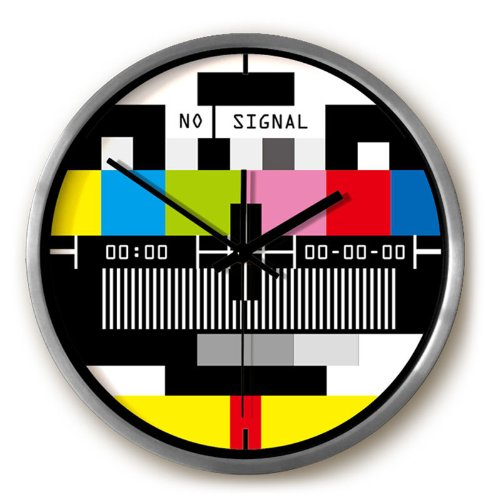 Television Station Wall Clock