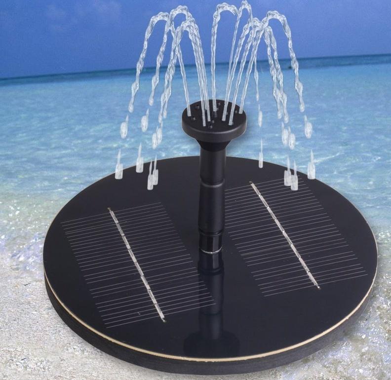 1.6W Solar Power Fountain Pool Water Pump Garden Plants Watering Outdoor