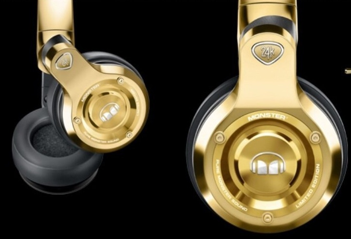 24K Gold Over-Ear Monster Headphones